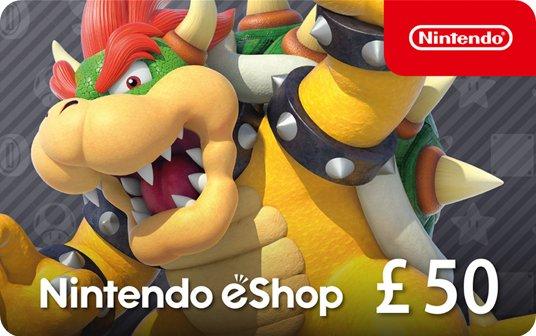 Nintendo eShop Card £50 card image