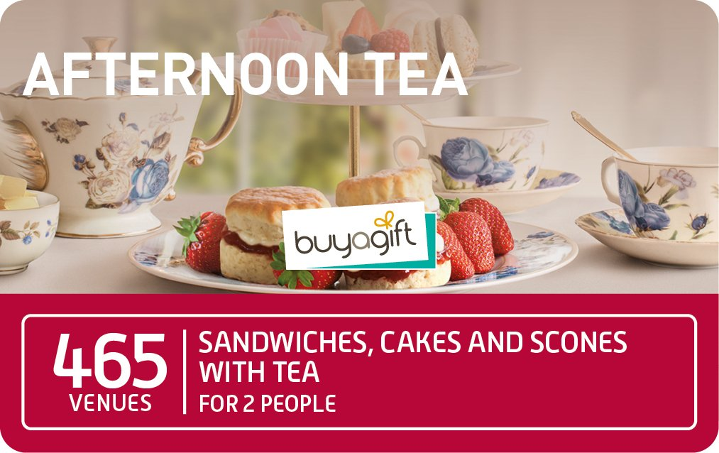 Buyagift Afternoon Tea £34.99 card image