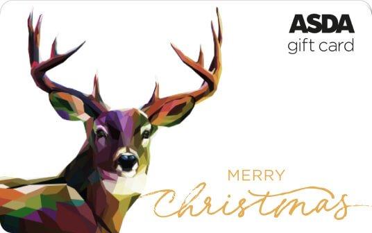 Asda Christmas Reindeer 2021 card image