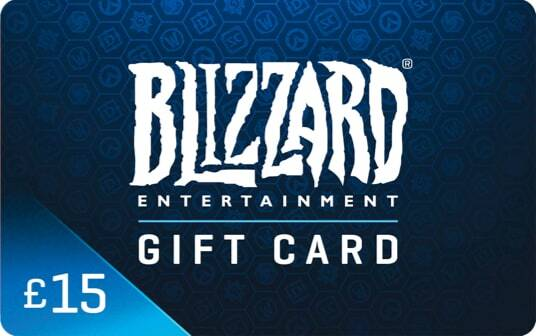 Blizzard Gift Card £15 card image