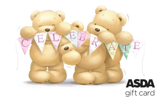 Asda Celebration Bear Gift Card card image